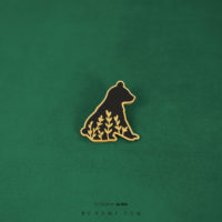 Little bear hard enamel tattoo design pin by Alina – details