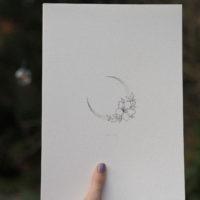 Floral crescent artprint (Hahnemühle fine art paper, 210gsm)
