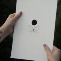 Butterfly artprint (Hahnemühle fine art paper, 210gsm)