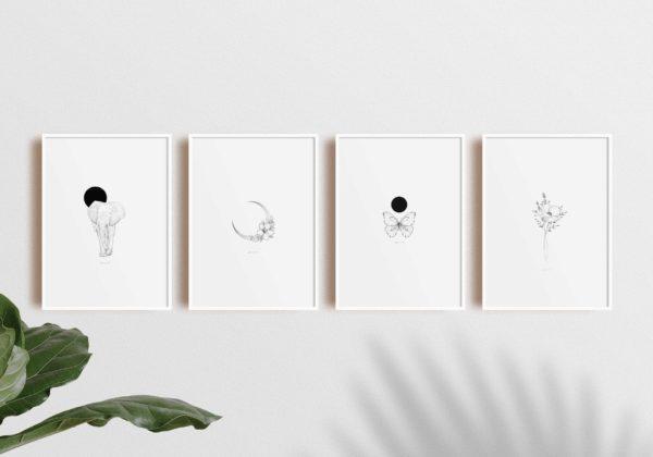 Bunami Ink Artprints in A4