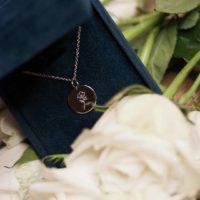 Floral silver necklace by Alina BUNAMI INK