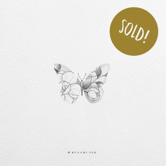 Floral butterfly by Alina BUNAMI INK