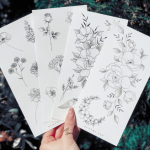 Temporary tattoos Set 11DEFG by Alina BUNAMI INK