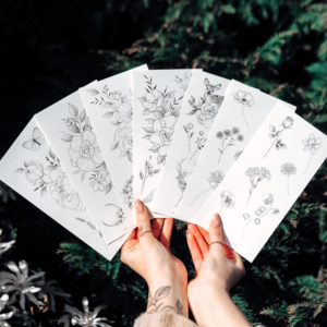 Temporary Tattoo full set (7×) by Alina BUNAMI INK