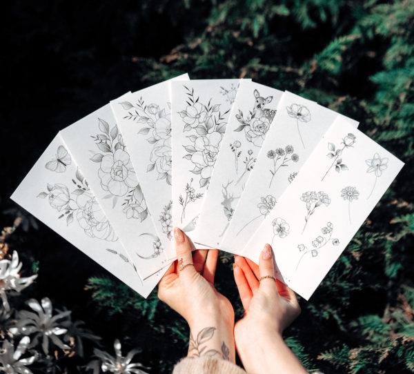 Temporary Tattoo full set (7×) by Alina BUNAMI INK