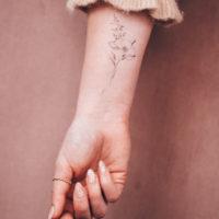 Temporary Tattoo Pfingstrose, Wildblumen Sträusschen & floraler Mond by Alina BUNAMI INK